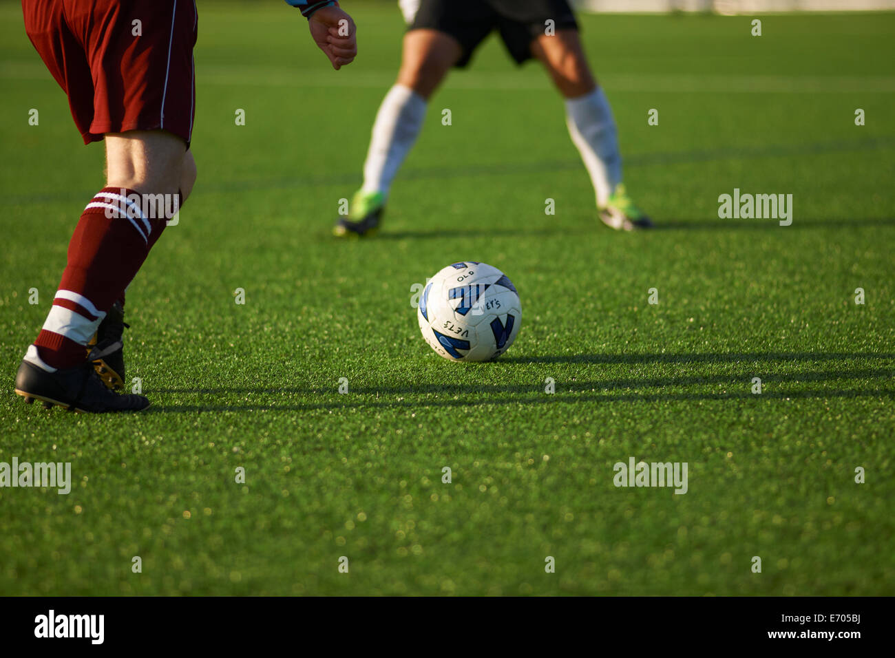 Football players during game Stock Photo