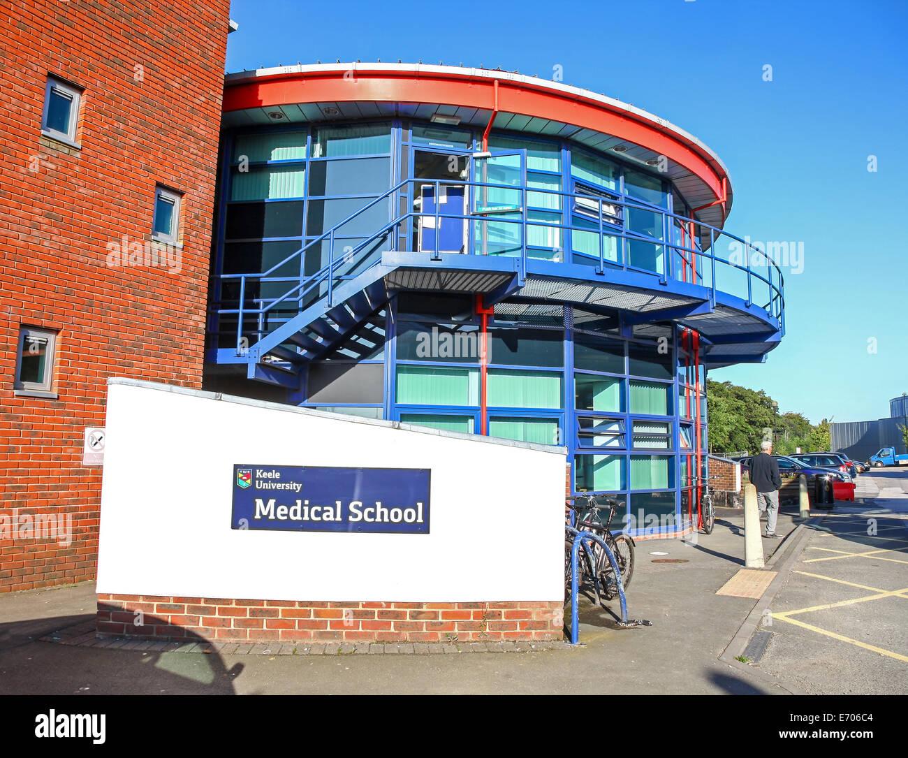 Keele University Medical School at The Royal Stoke University Hospital of North Staffordshire Stoke on Trent Staffs - Stock Image