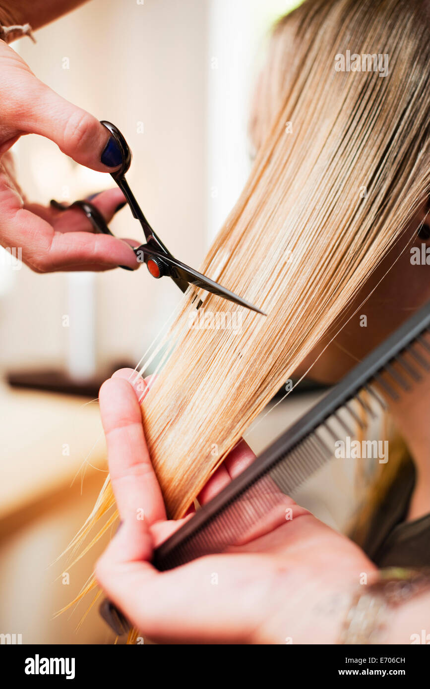 Haircut With Scissors Stock Photos Haircut With Scissors Stock