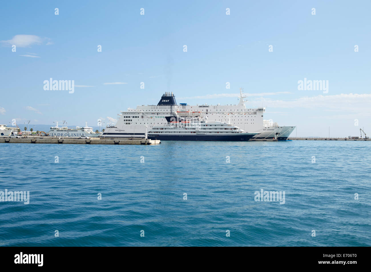 Split, Croatia. Ferry Terminal Split is the second biggest city in Croatia - Stock Image