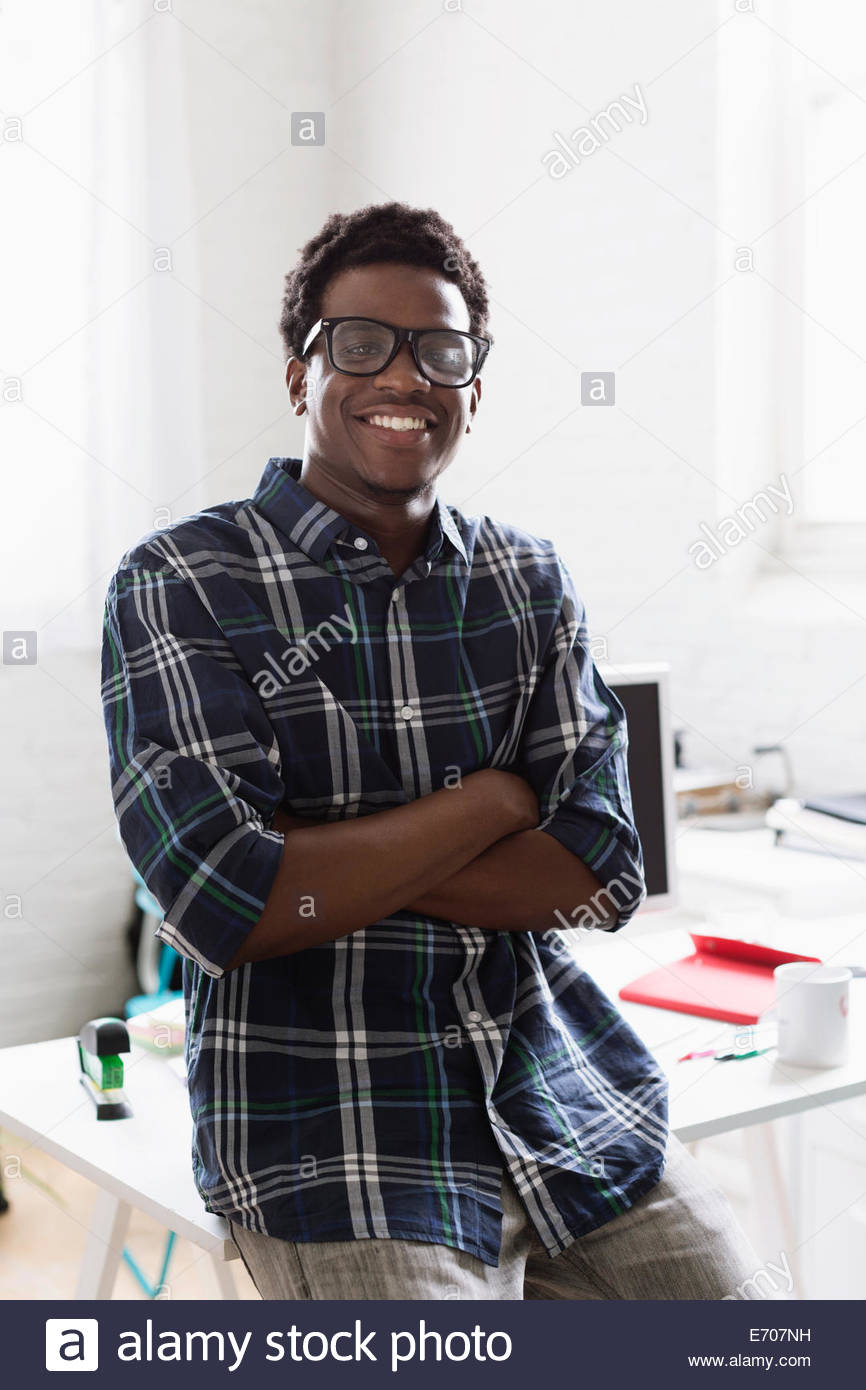 1eff8659b5bf Young Black Man Wearing Glasses Stock Photos   Young Black Man ...