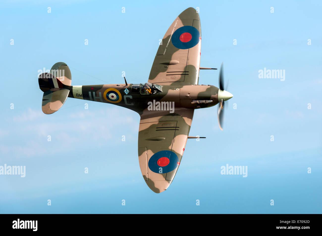 Vickers Supermarine Spitfire MK VB  G-MKVB - Stock Image