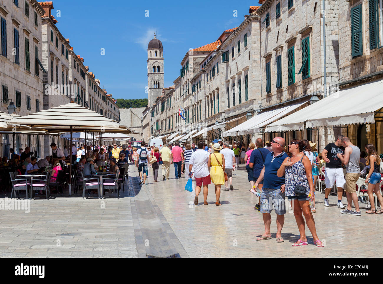 Tourists visiting Dubrovnic Stock Photo