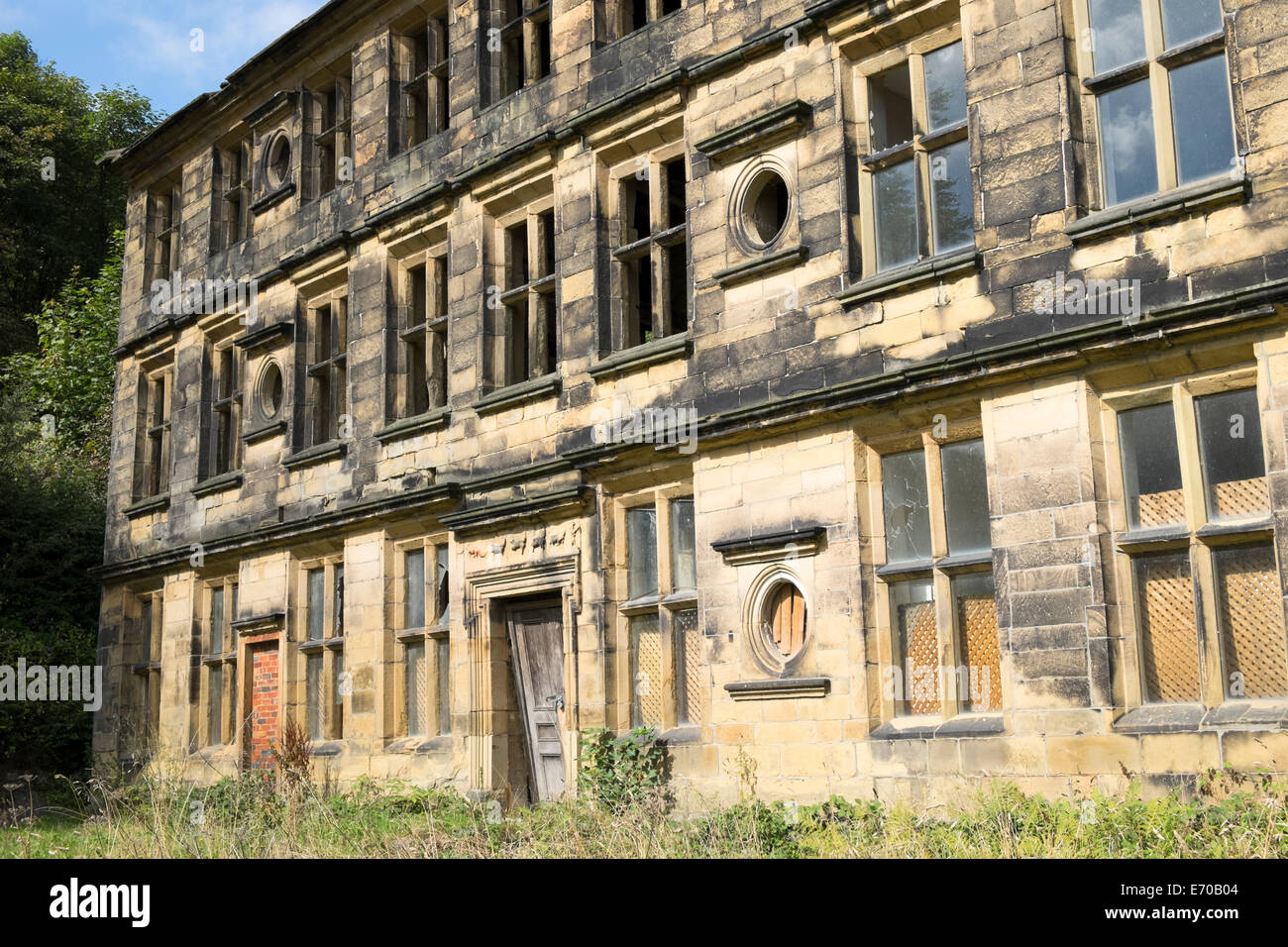 17th century Scout Hall, now derelict, Shibden, West Yorkshire - Stock Image