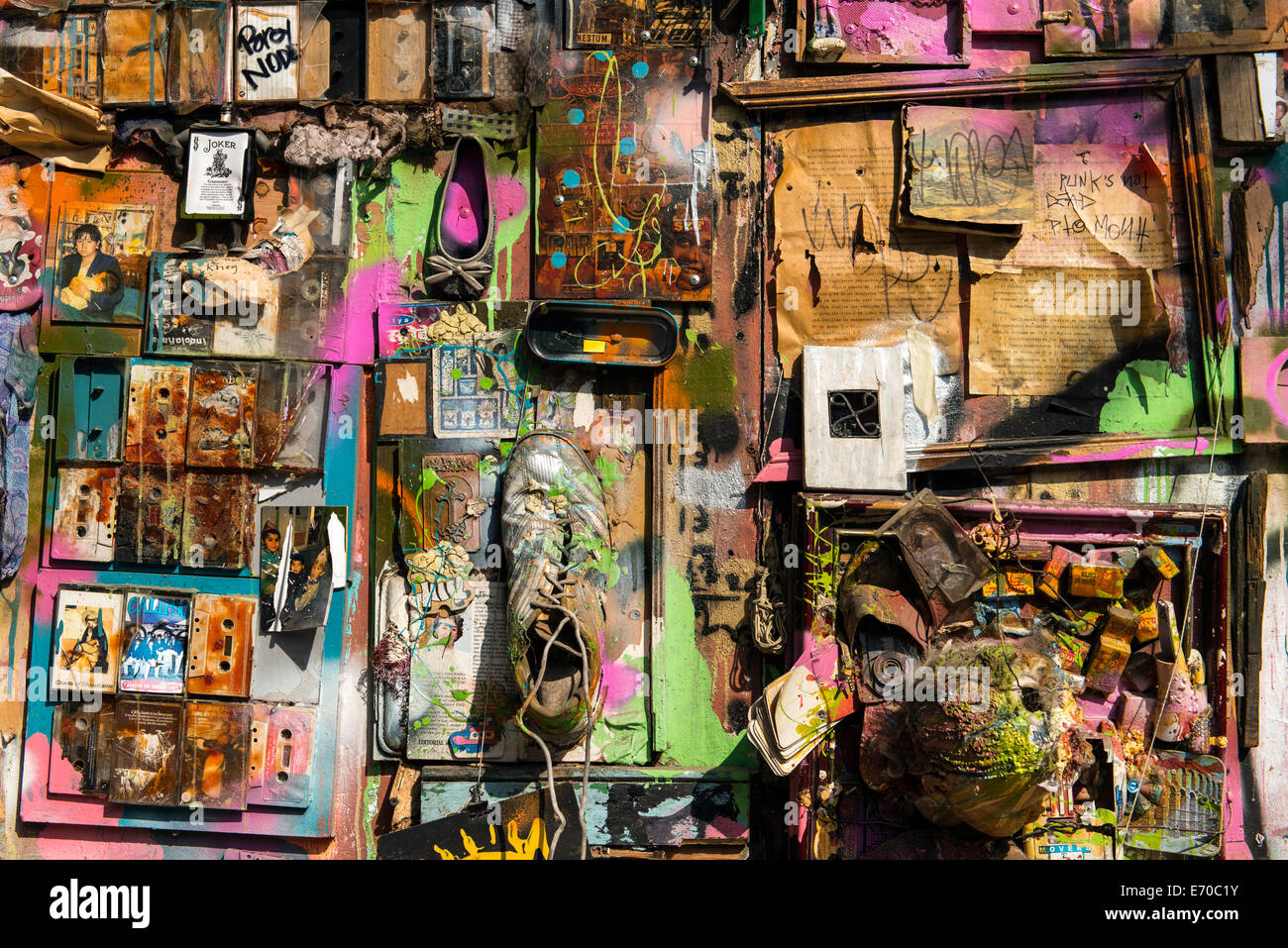 Street art Lastarria neighborhood Santiago del Chile, Chile, South America - Stock Image