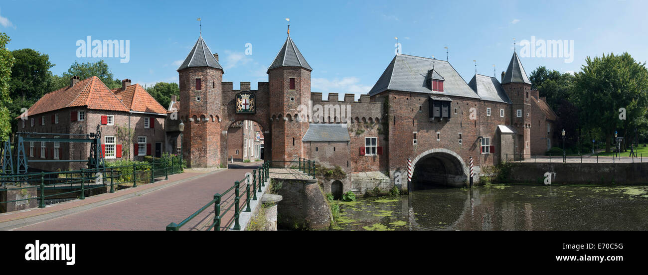 The Koppelpoort is a medieval gate completed around 1425, Amersfoort, Netherlands - Stock Image