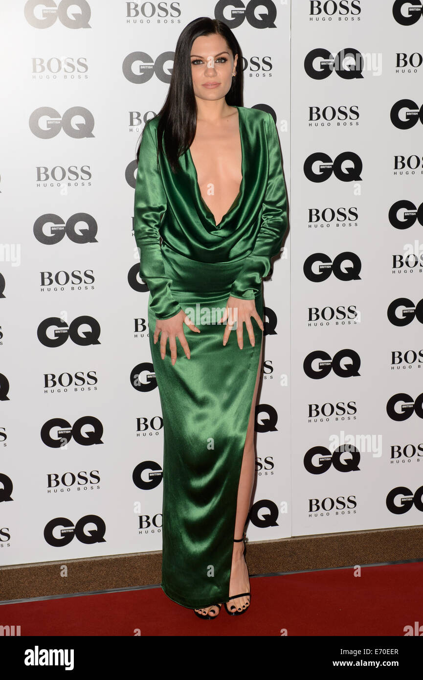 Jessie J arrives for the GQ Men Of The Year Awards 2014. - Stock Image