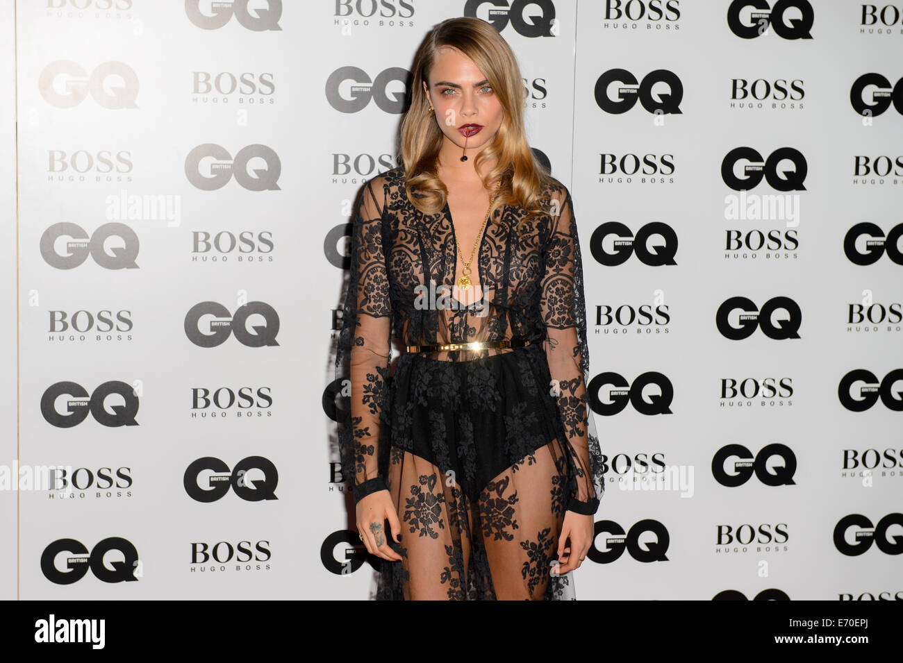 Cara Delevingne arrives for the GQ Men Of The Year Awards 2014. - Stock Image