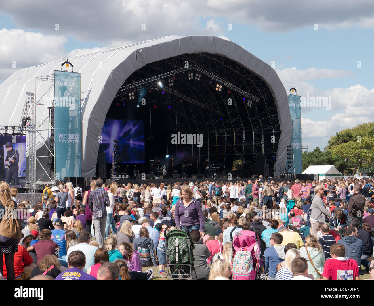 The main stage at the Victorious festival in Portsmouth, Hampshire, england Stock Photo