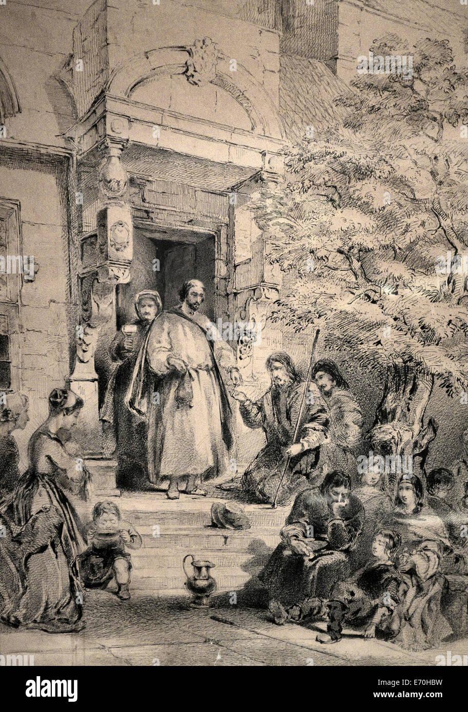 Man dispensing alms - James Whistler 1854 - Stock Image