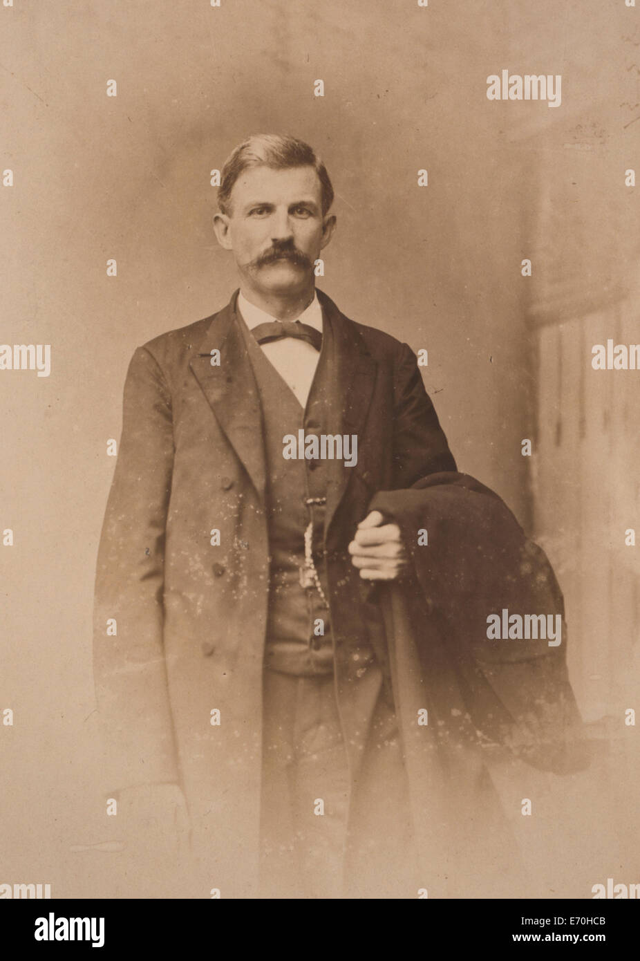 James Daniel Richardson, half-length portrait, standing, facing front, circa 1880.  James Daniel Richardson (1843–1914) - Stock Image