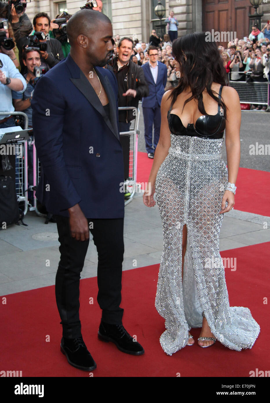 London, UK, 2nd September 2014: Kim Kardashian and Kanye West attend the GQ Men of the Year awards at The Royal - Stock Image