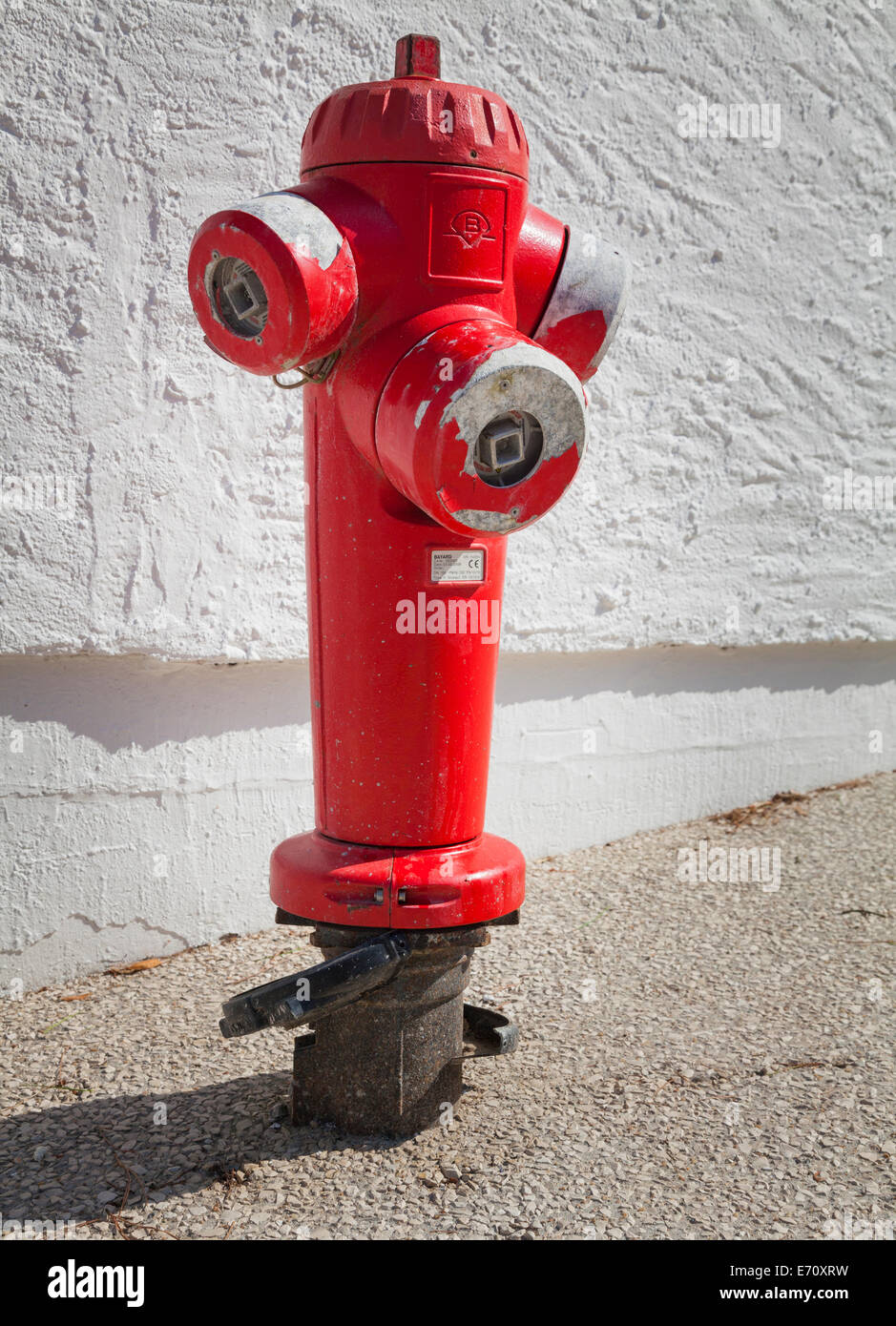 Red French fire Hydrant - Stock Image