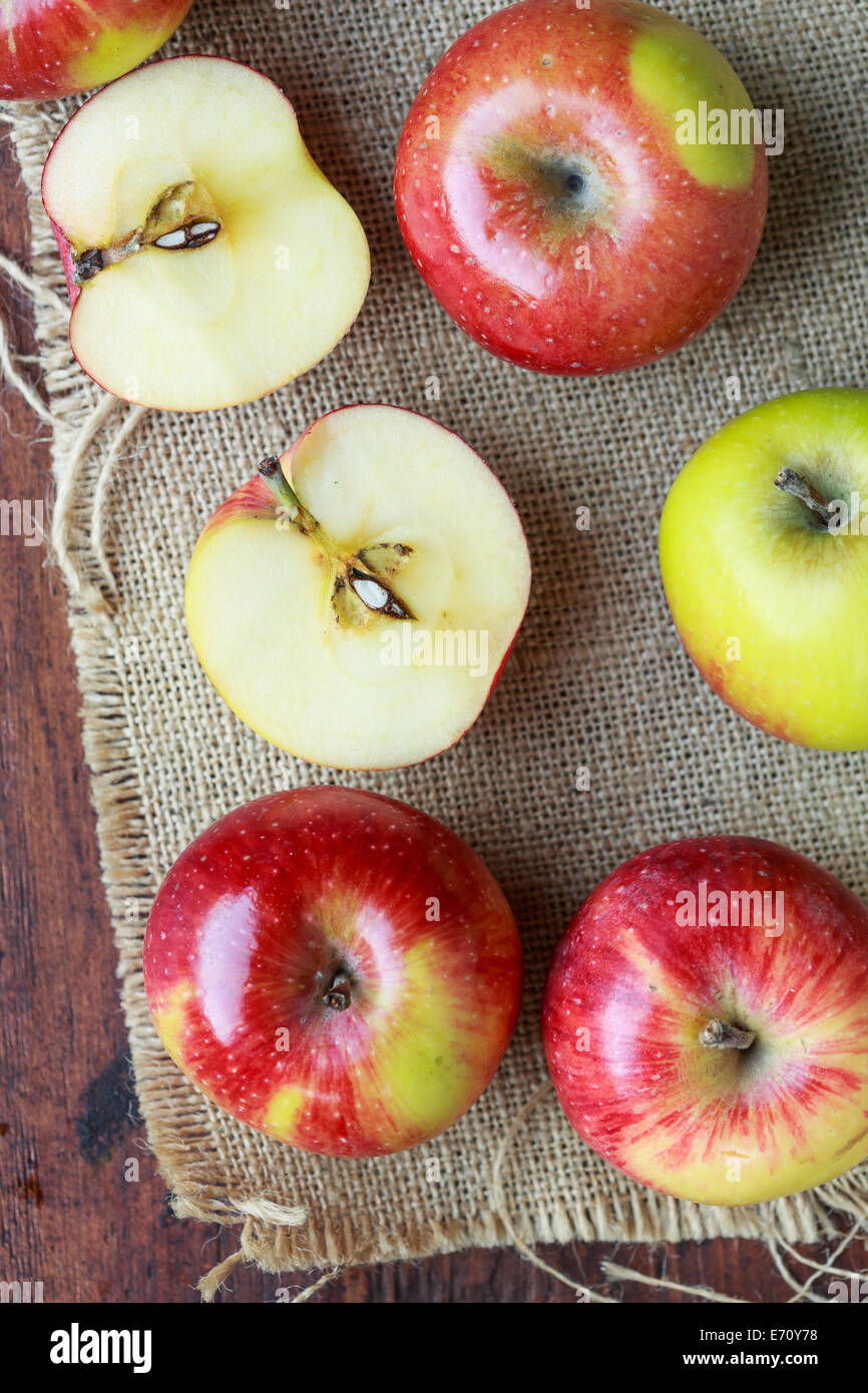 Little red apples - Stock Image