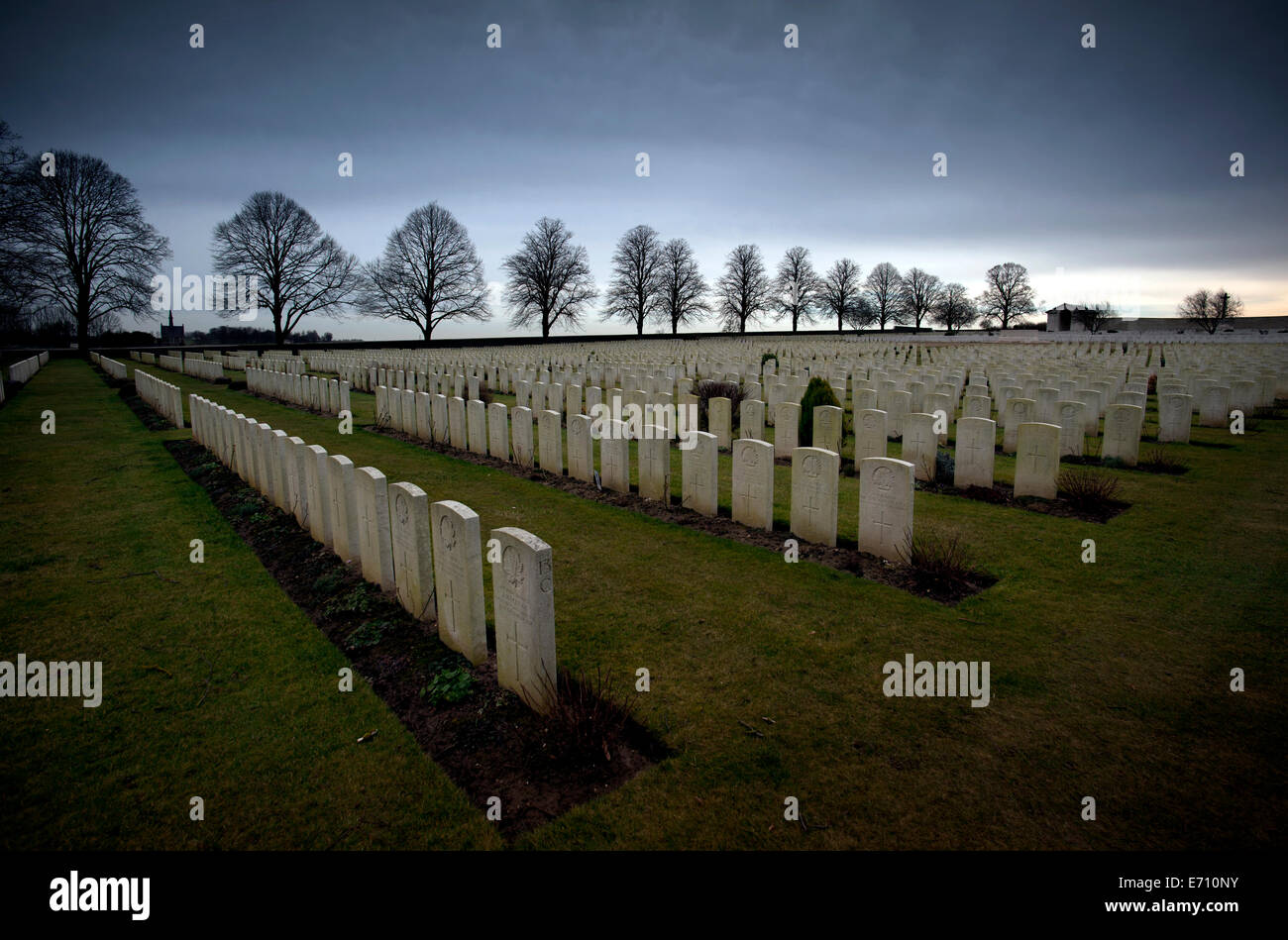 Somme WW1 Battlefield, July 1st-November 1916, France. Serre Road No 2 CWGC Cemetery, Serre-les-Puisieux. February - Stock Image
