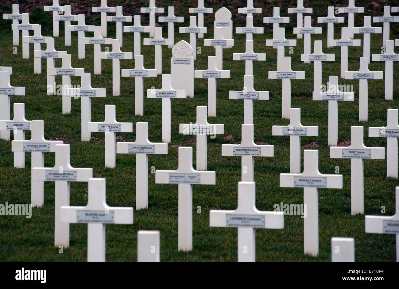Somme WW1 Battlefield, July 1st-November 1916, France. Serre-Hébuterne French Military Cemetery, Serre-les - Stock Image