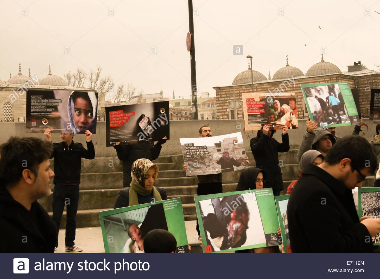 Propaganda in Istanbul Stock Photo