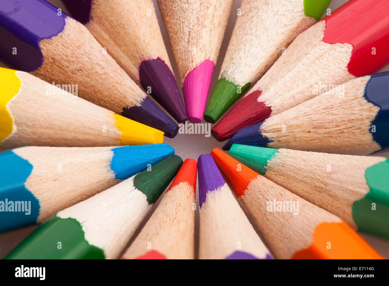color pencils concept - Stock Image