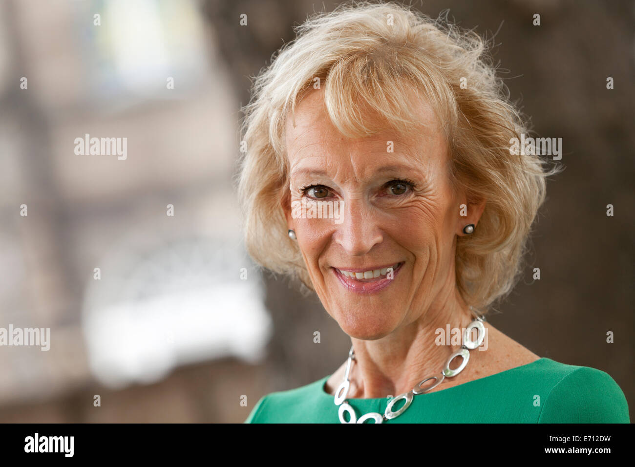 Sue Lawrence, the  Scottish cookery and food writer, appearing at the Edinburgh International Book Festival, 2014. - Stock Image