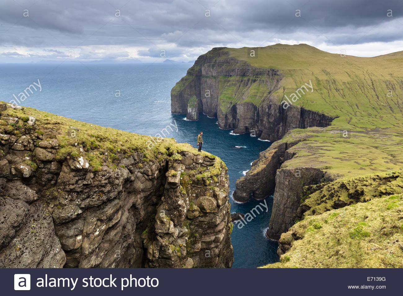 Asmundarstakkur, Faroe Islands, Denmark - Stock Image