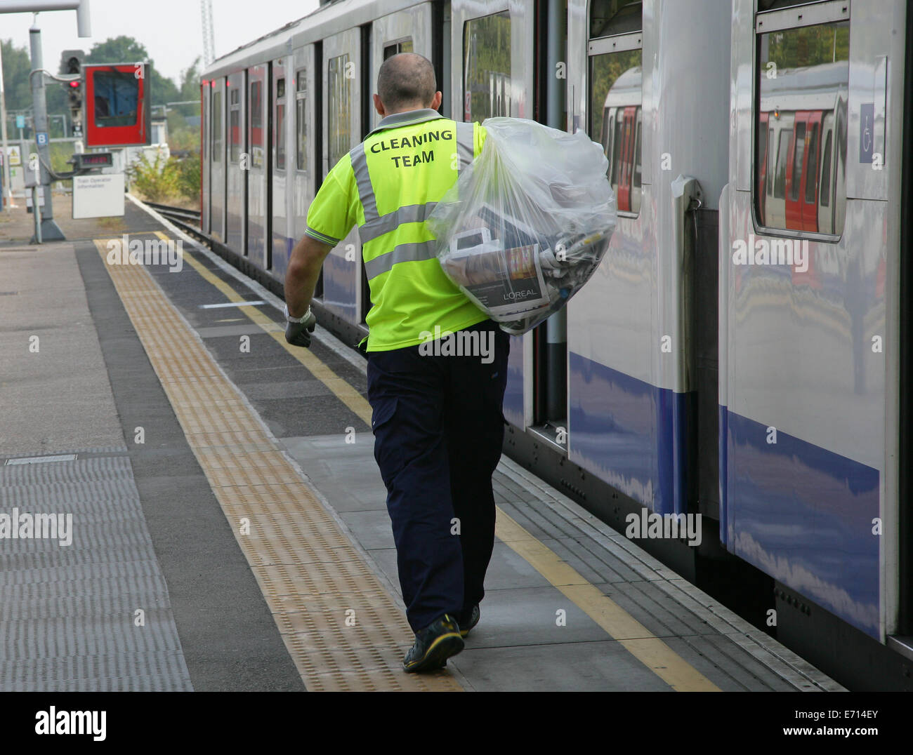 London, UK. 3rd Sep, 2014. London Underground Cleaners are balloted on industrial action due to the introduction - Stock Image