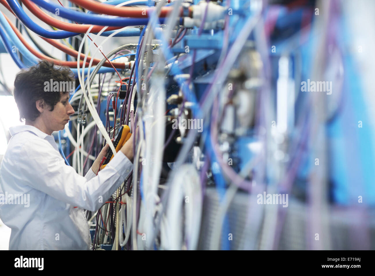 Technician at work - Stock Image
