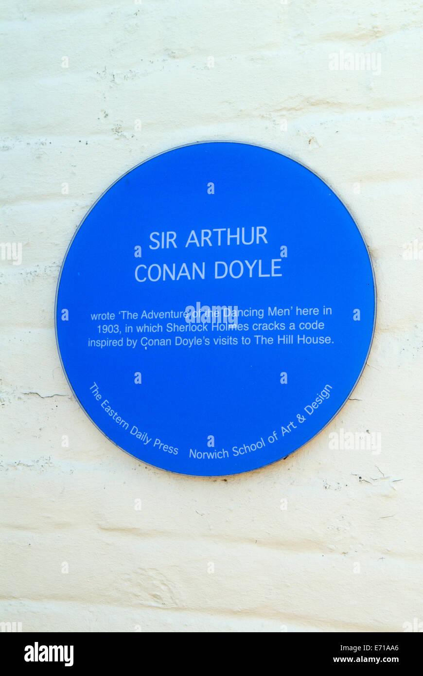 The Hill House pub Happisburgh North Norfok UK. Sir Arthur Conan Doyle, Sherlock Holmes, The Adventures of the Dancing - Stock Image