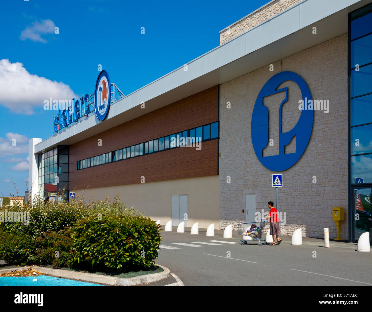 Branch of E Leclerc supermarket in Pons south west France