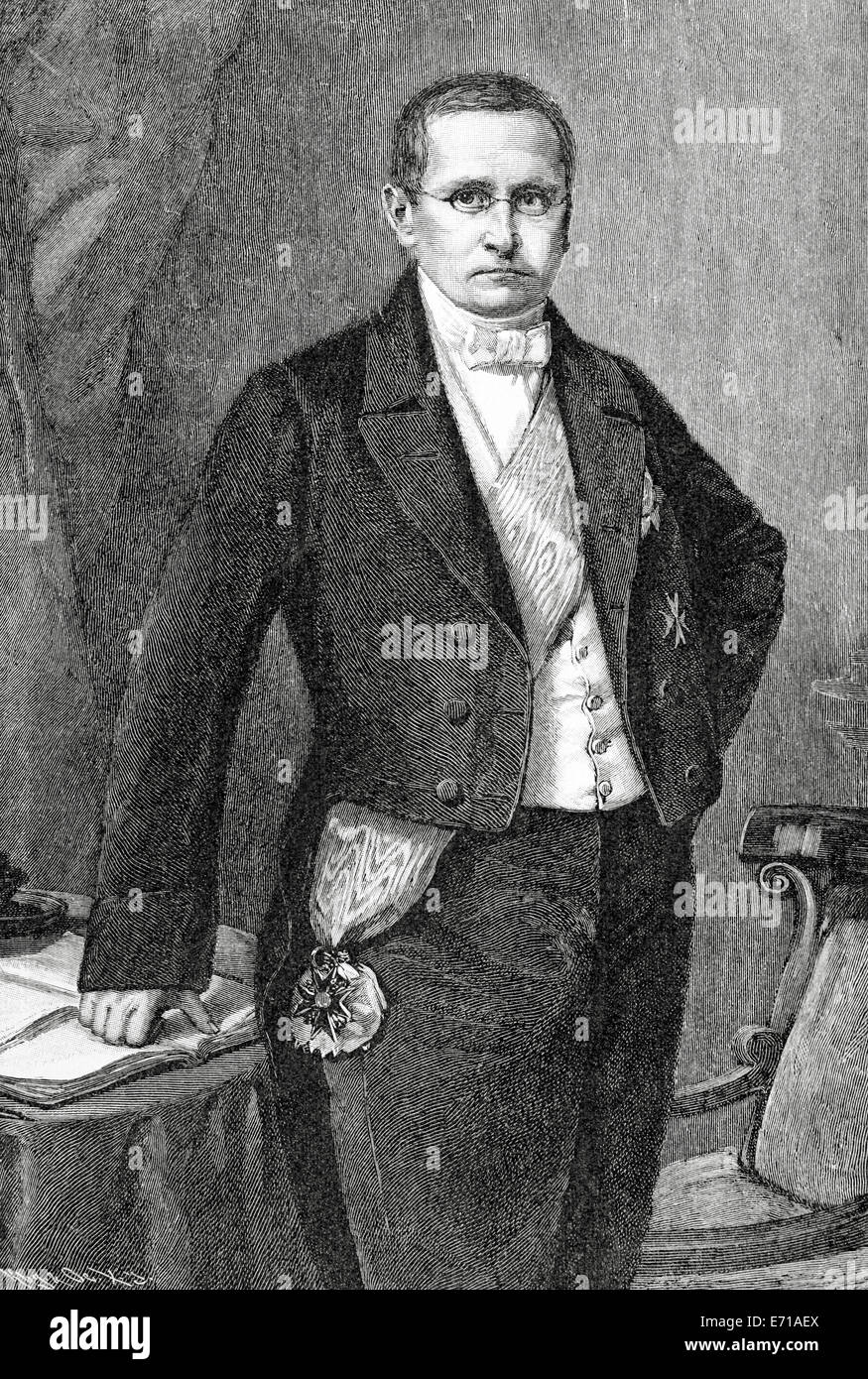 Otto Theodor von Manteuffel (1805-1882). Conservative Prussian statesman, serving nearly a decade as prime minister. Stock Photo