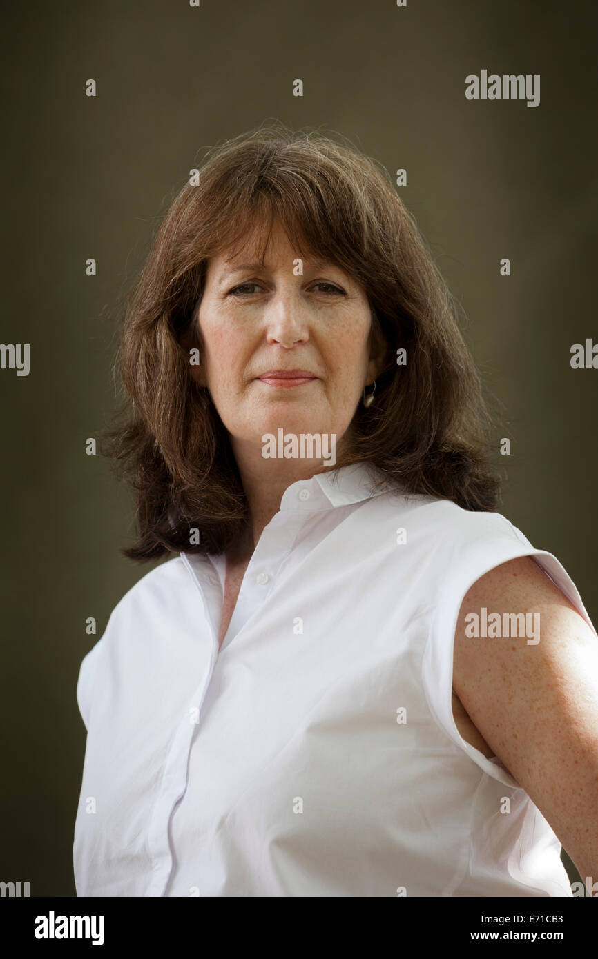 Catriona Murray, Gaelic writer and broadcaster, at the Edinburgh International Book Festival 2014. Edinburgh, Scotland. - Stock Image