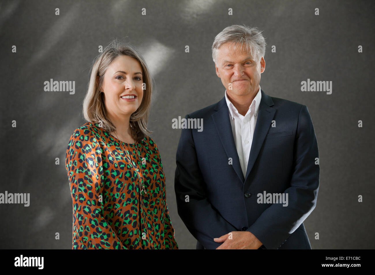 Sarah Smith, broadcaster and journalist, with Iain Macwhirter, political commentator, journalist and author. - Stock Image
