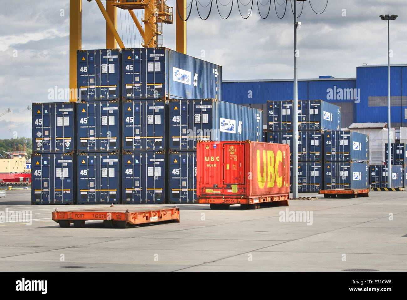 Gdynia, Poland 18.08.2014  Sea containers in the Port of Gdynia. - Stock Image