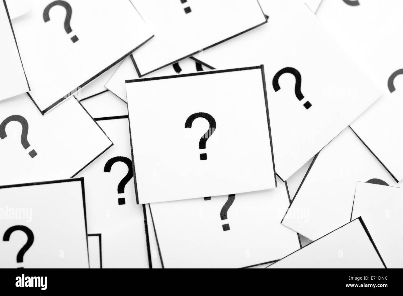 Question Marks. Closeup. - Stock Image