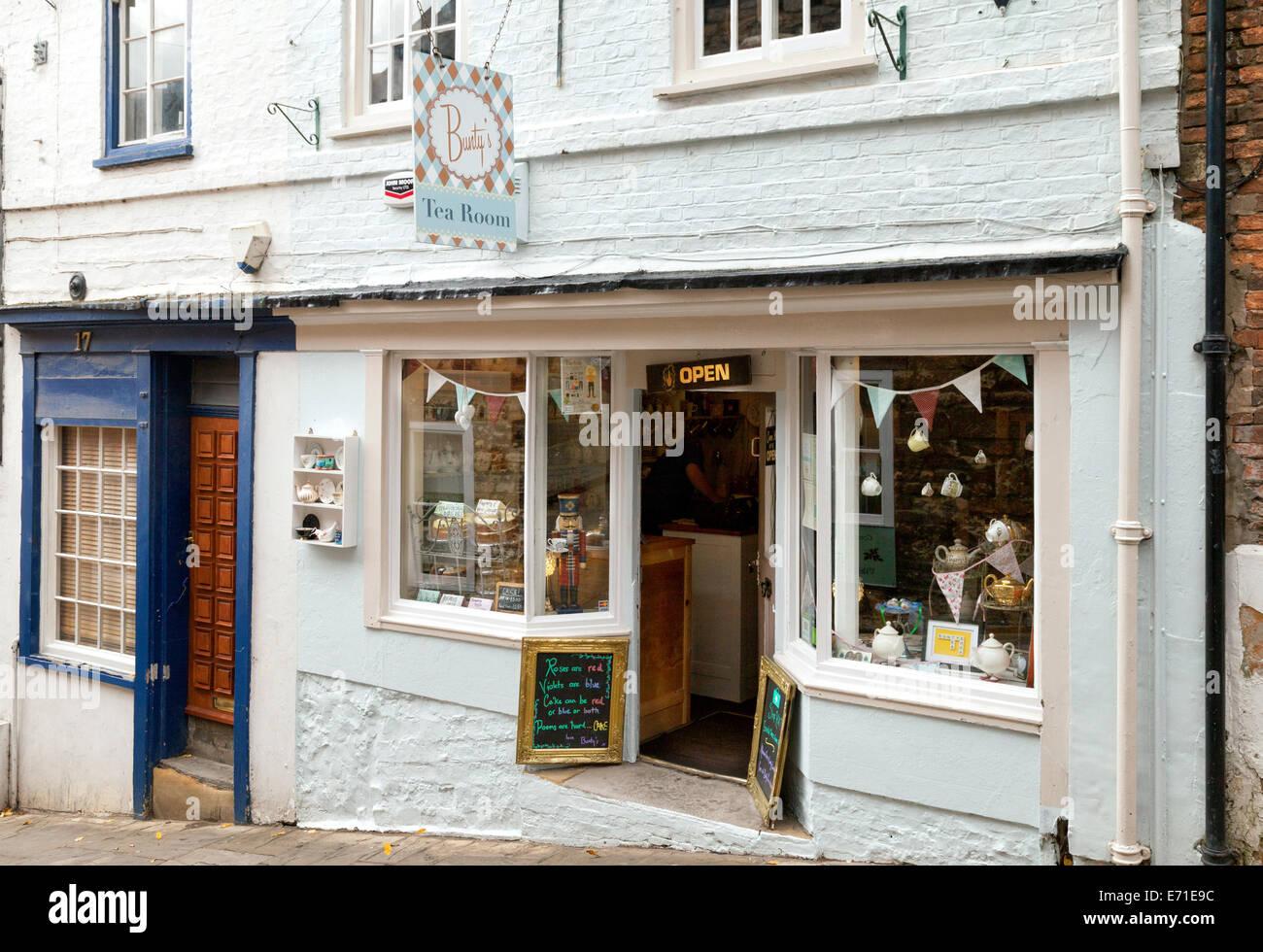 Buntys Tea Room, Steep Hill, Lincoln Lincolnshire UK - Stock Image