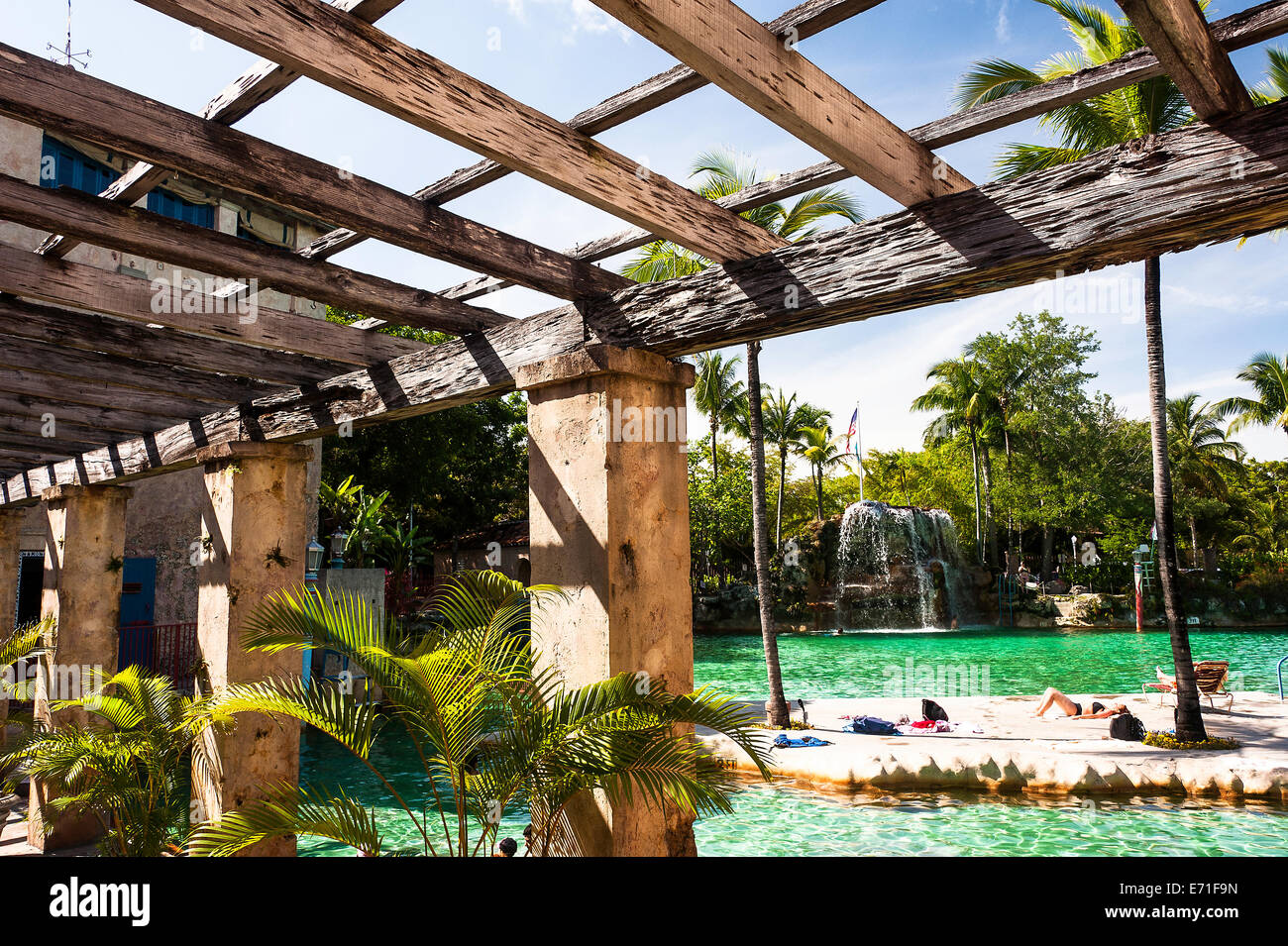 Venetian Pool Coral Gables - Stock Image