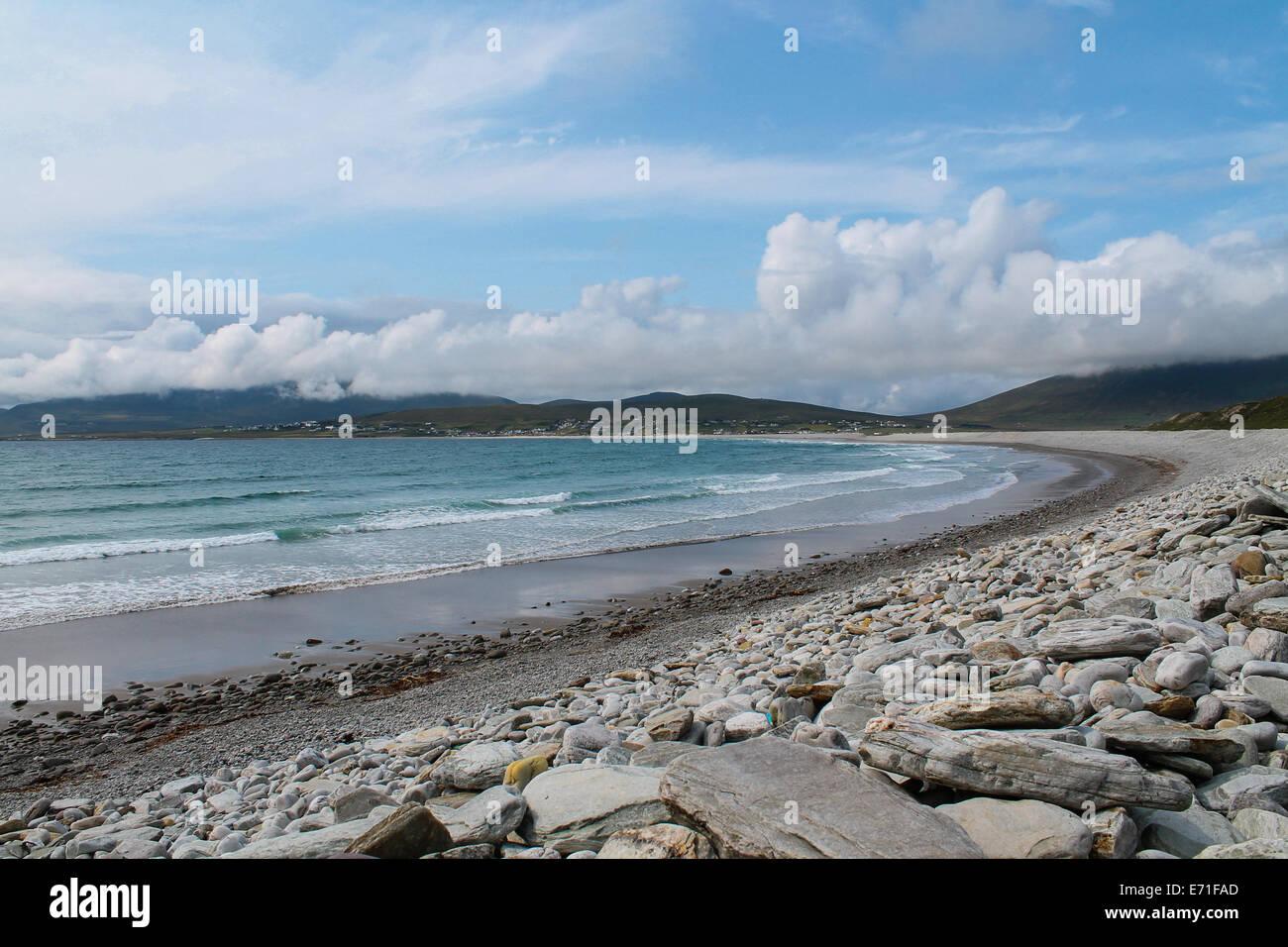 Keel beach, Achill Island, County Mayo, Ireland - Stock Image