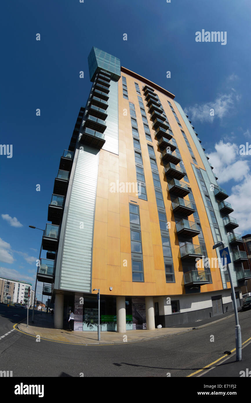 Skyline Centrel on Rochdale Road, Manchester, an 18 story modern apartment hi rise accommodation. close to the Northern - Stock Image