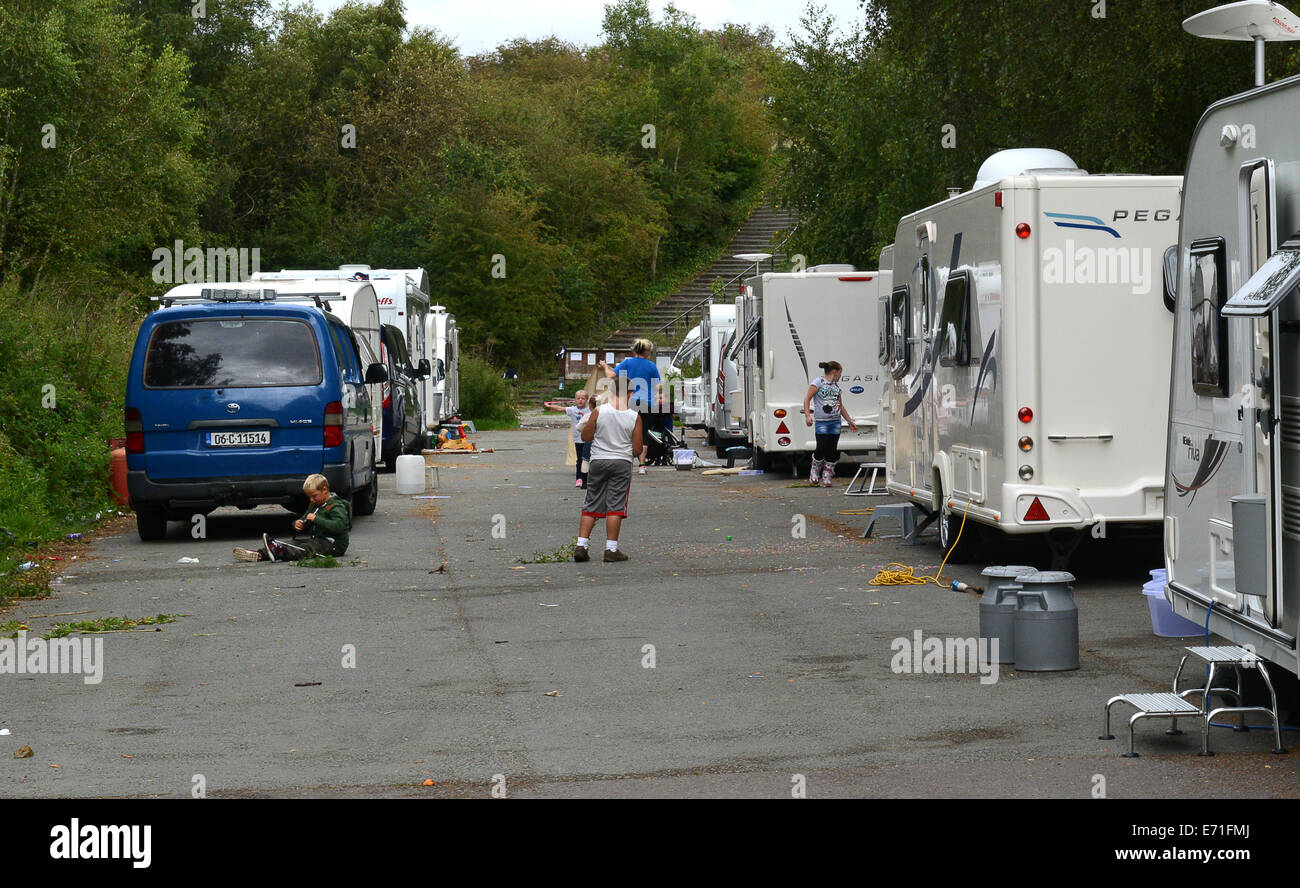 Travellers at Granville Country Park in Telford Uk - Stock Image