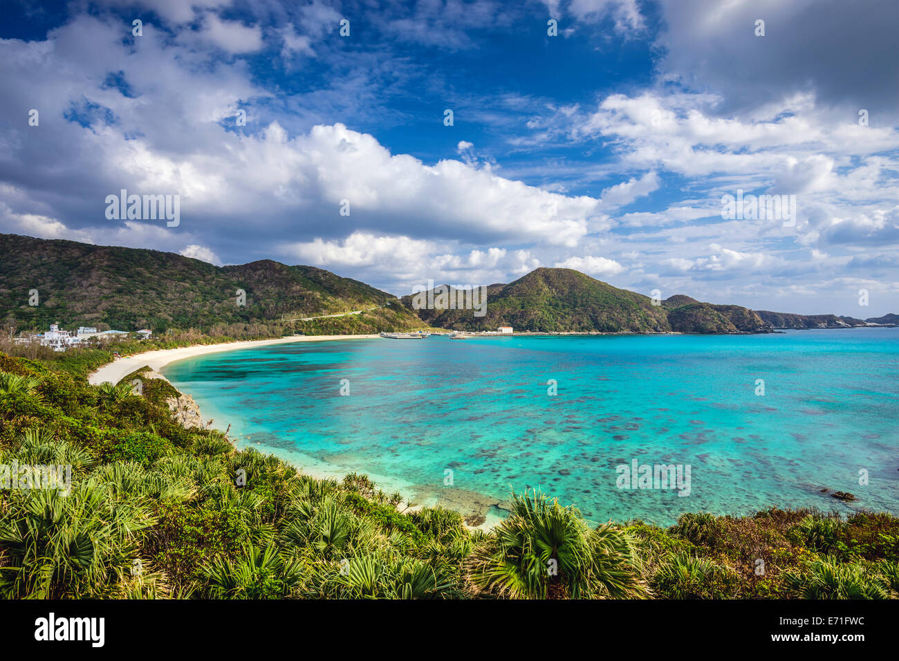 Aharen Beach on Tokashiki Island in Okinawa, Japan. - Stock Image