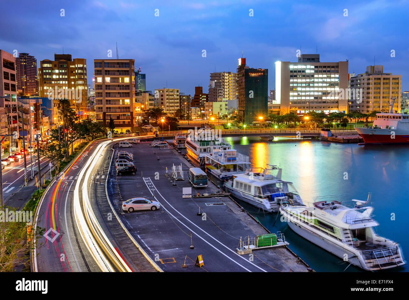 Naha, Okinawa, Japan cityscape at the bay. - Stock Image
