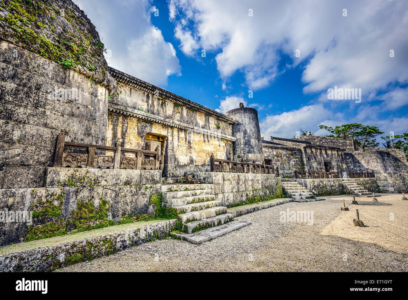 Tamaudun Mausoleum in Okinawa, Japan. The remains of 18 Ryuku kings and their families are entombed at Tamaudun. - Stock Image