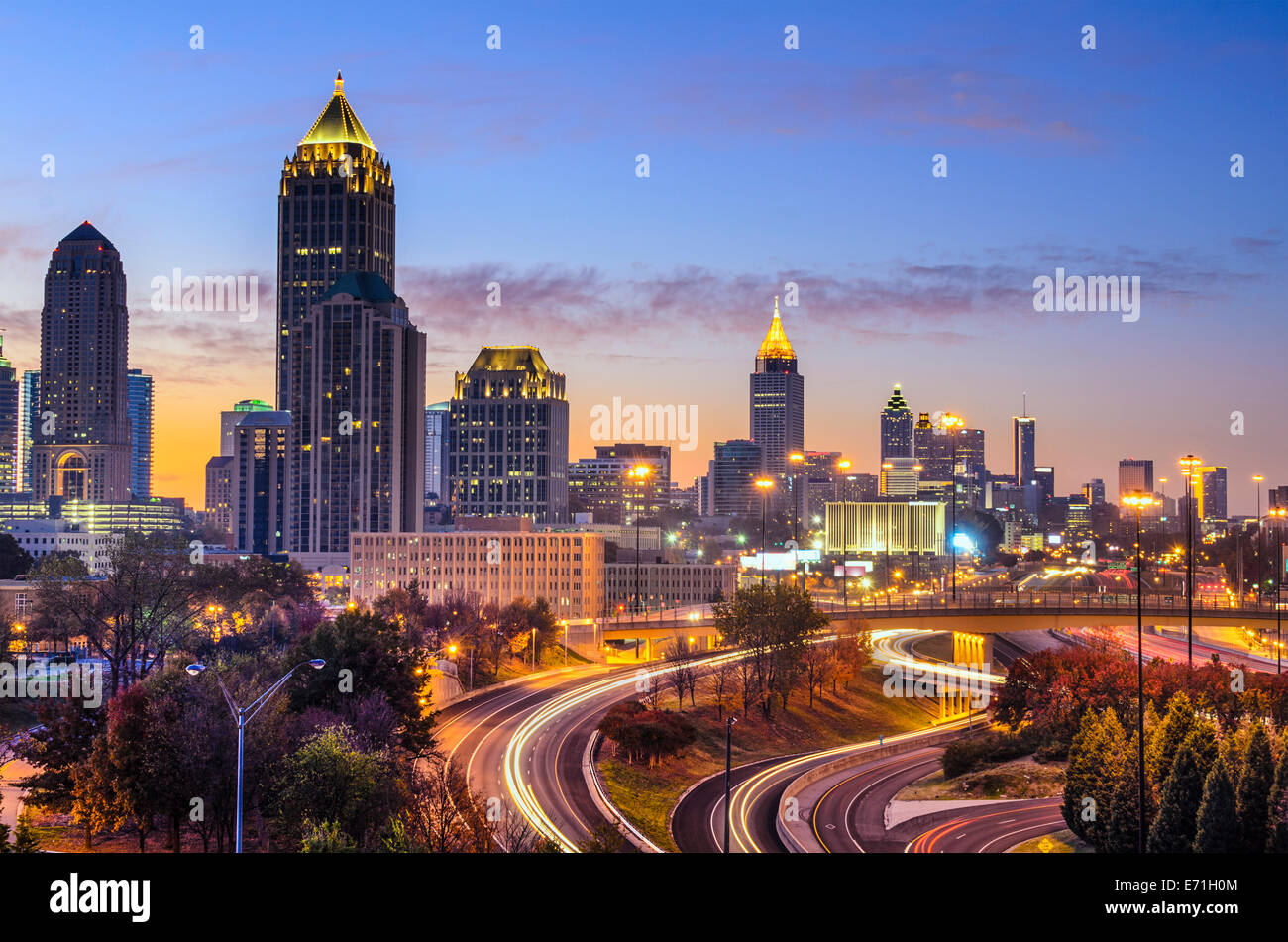 Atlanta, Georgia downtown skyline at sunrise. - Stock Image