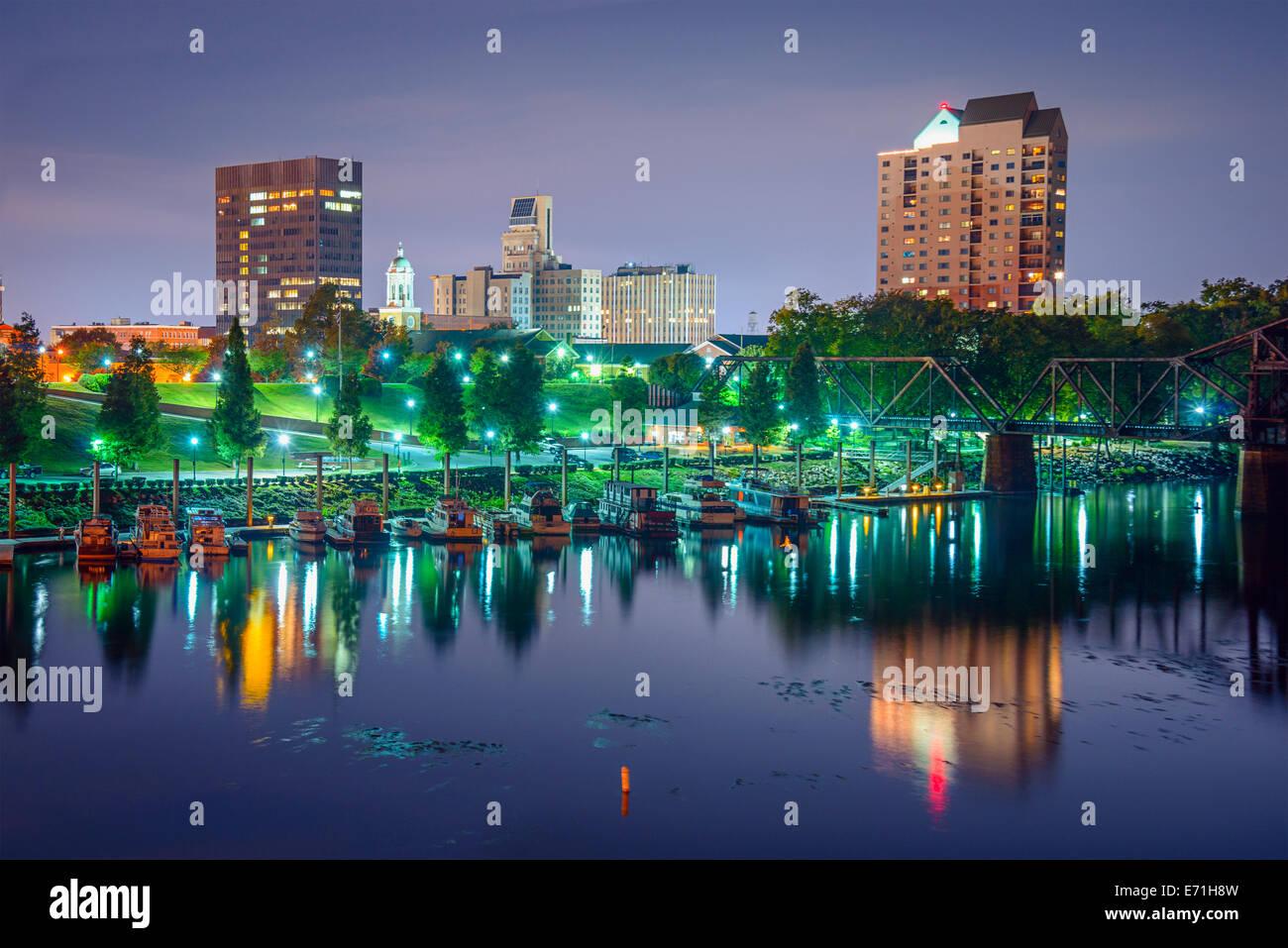 Augusta, Georgia, USA downtown cityscape. - Stock Image