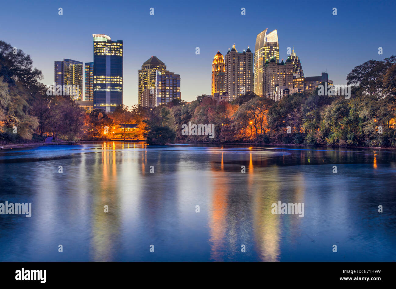 atlanta georgia usa midtown skyline from piedmont park stock photo 73179621 alamy. Black Bedroom Furniture Sets. Home Design Ideas
