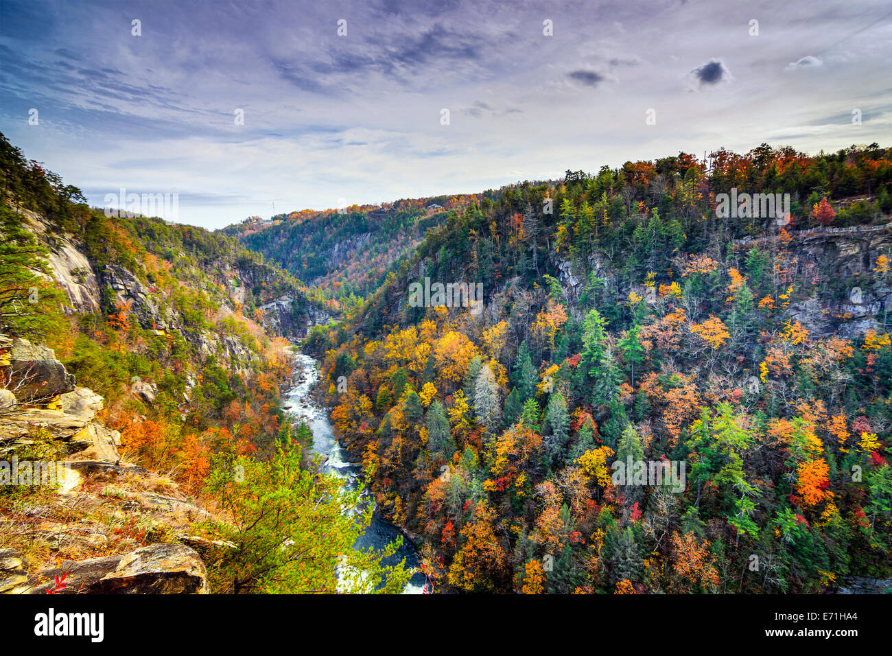 Tallulah Gorge in Georgia, USA during fall season. - Stock Image