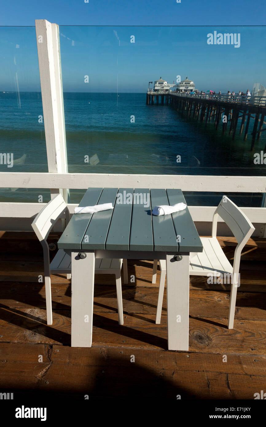 Malibu Pier Restaurant, Malibu, Los Angeles County, California, United States of America Stock Photo
