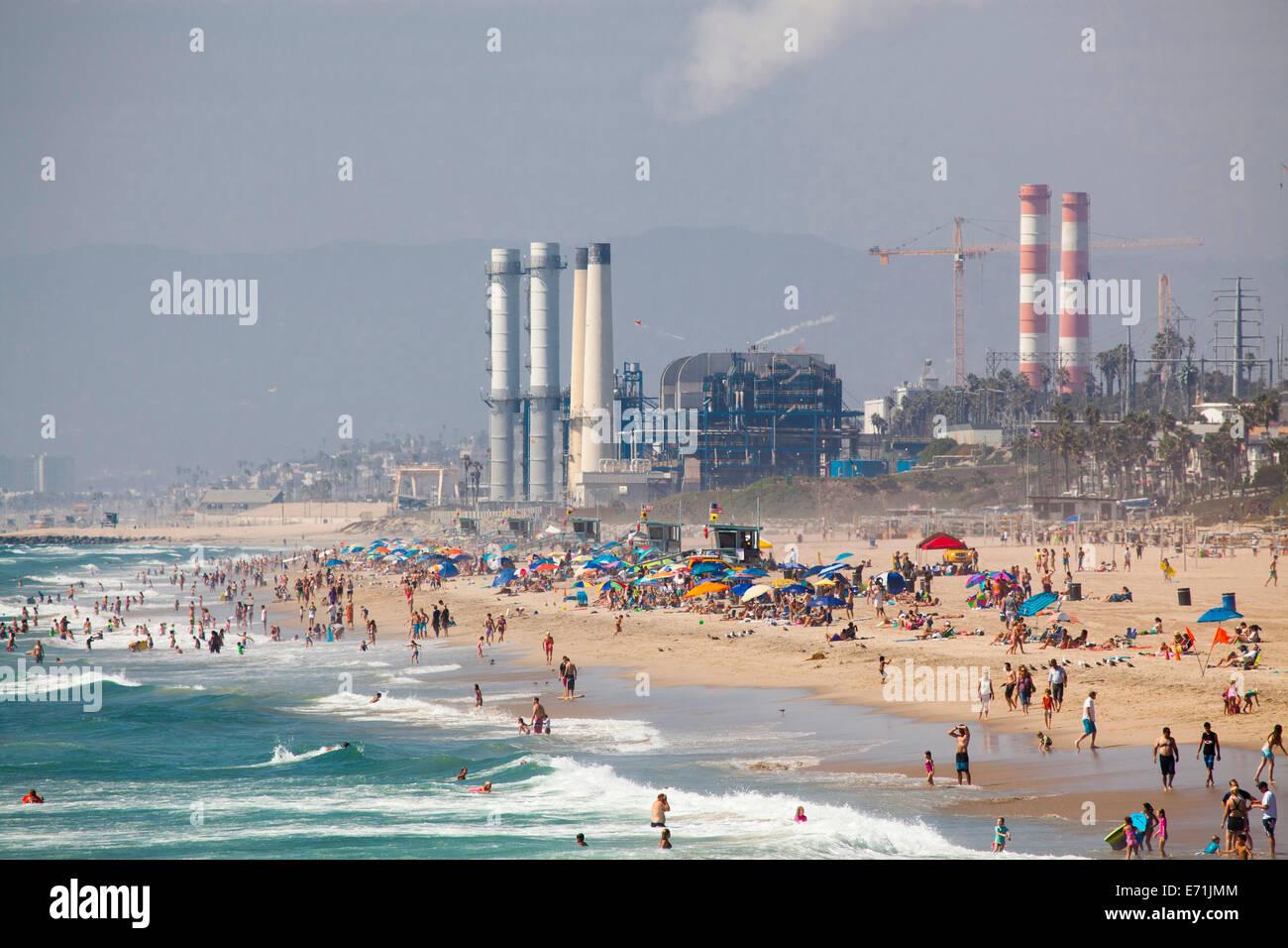beach and power plant manhattan beach los angeles california