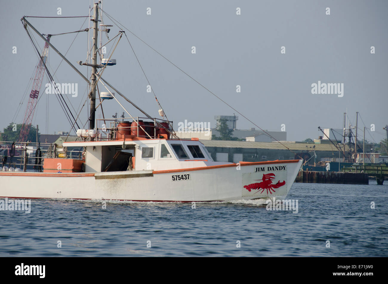 USA, Massachusetts, New Bedford  Commercial fishing boats in