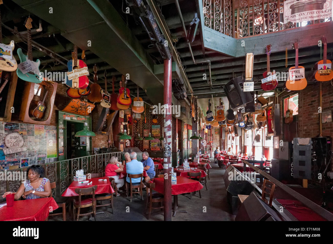 Rum Boogie Cafe - Memphis, Tennessee - Stock Image