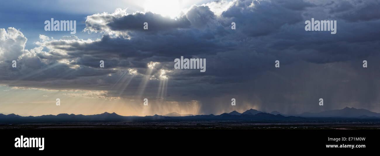 Sonoran Desert Squall, Tucson, Arizona - Stock Image